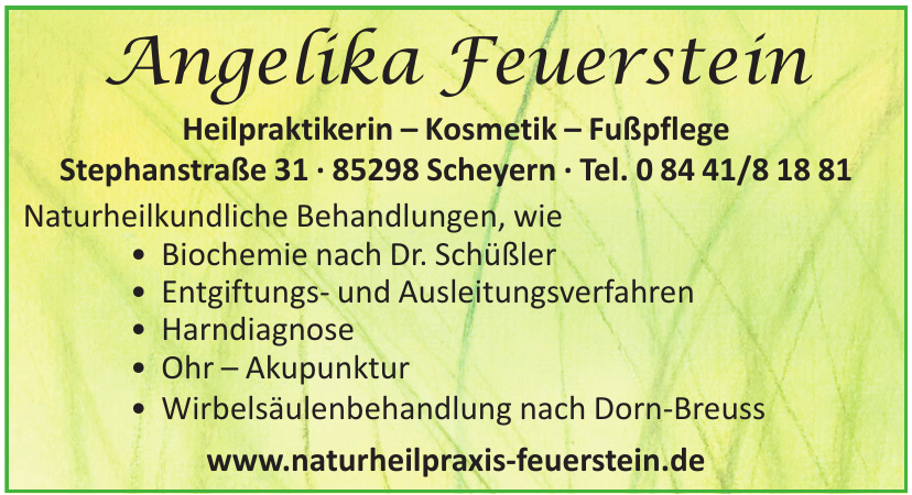 Angelika Feuerstein, Heilpraktikerin – Kosmetik – Fußpflege