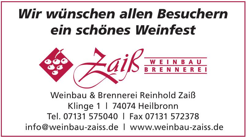 Weinbau & Brennerei  Reinhold Zaiß