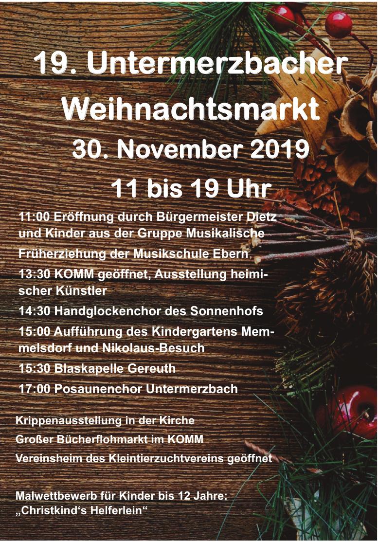 19. Untermerzbacher Weihnachtsmarkt