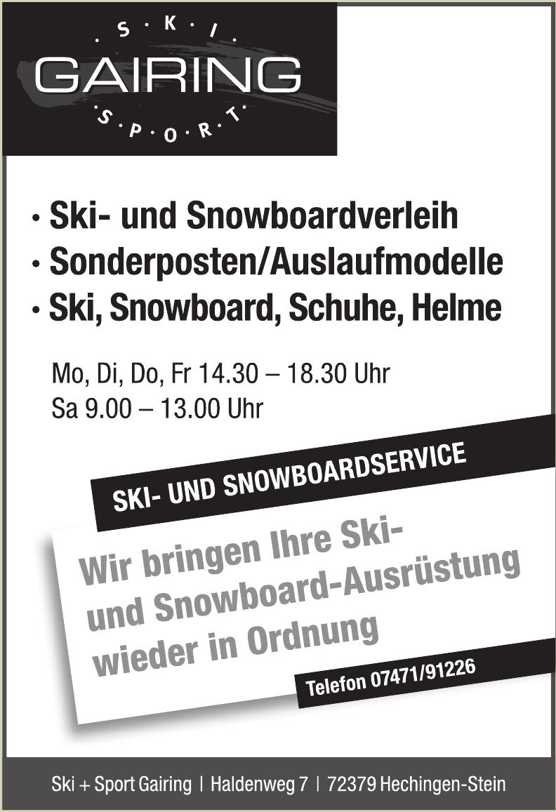 Ski + Sport Gairing