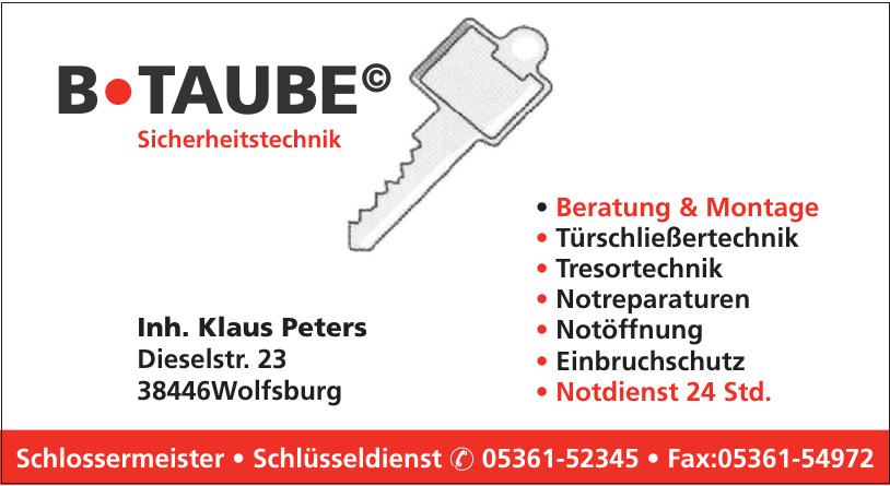 B-Taube Schlossermeister - Schlüsseldienst