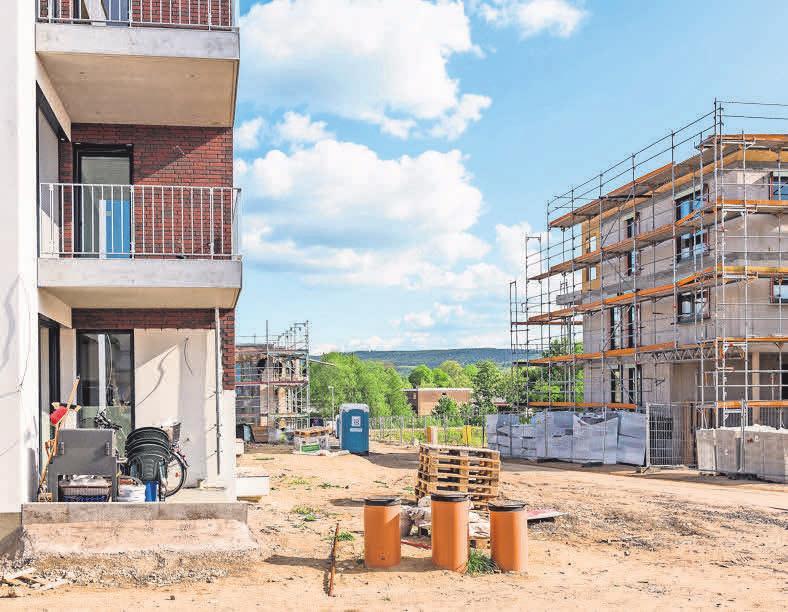 BUNTE MISCHUNG: Im Baugebiet Klostergrund in Wennigsen entstehen unterschiedliche Wohnformen.