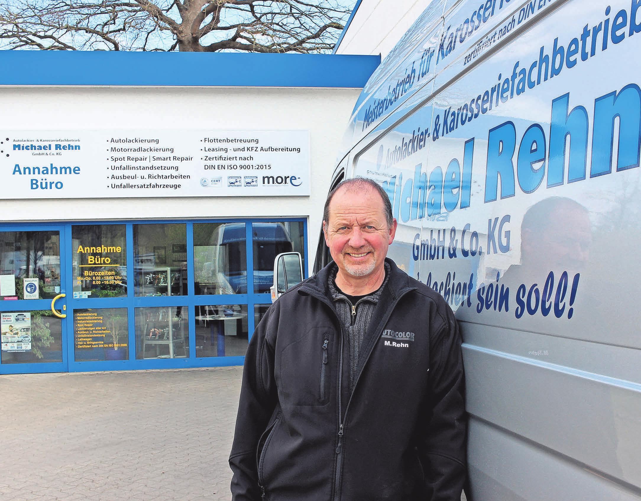 Egal, ob Lackier- oder Karosseriearbeiten: Michael Rehn steht seit über 30 Jahren für besten Service aus einer Hand. Fotos: pa