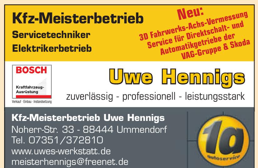 Kfz-Meisterbetrieb Uwe Hennigs