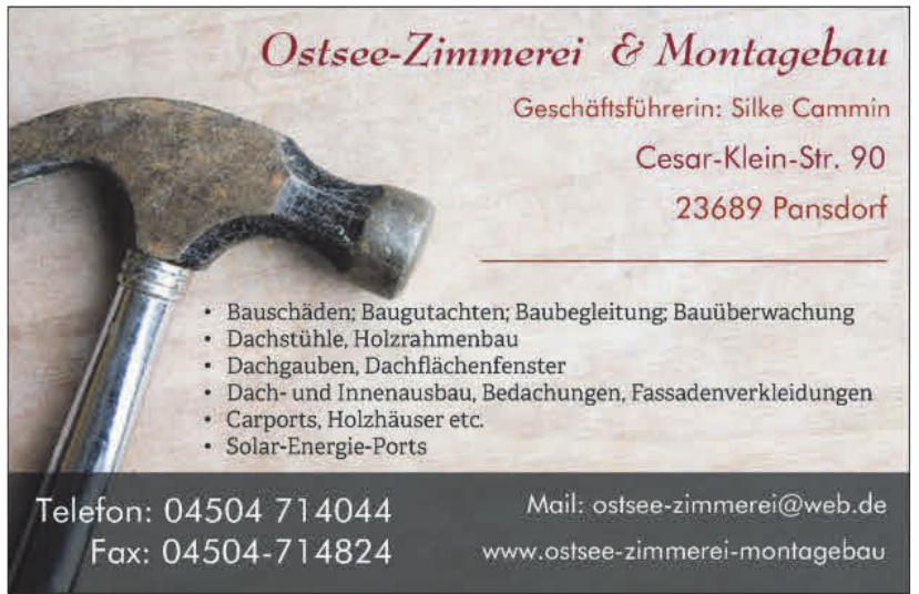 Ostsee-Zimmerei & Montagebau
