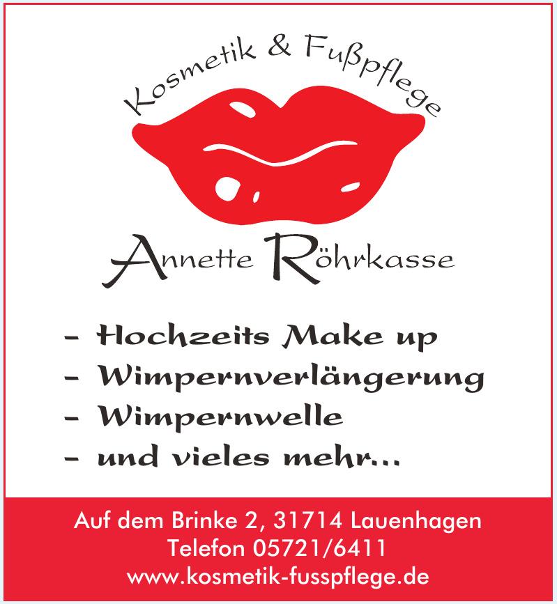 Kosmetik Fußpflege Annette Röhrkasse