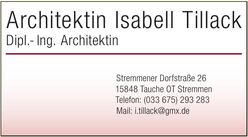 Architektin Isabell Tillack
