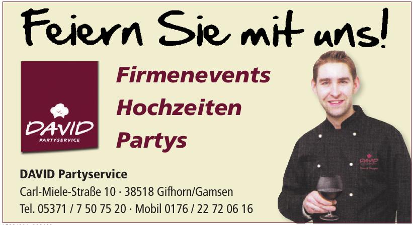 DAVID Partyservice