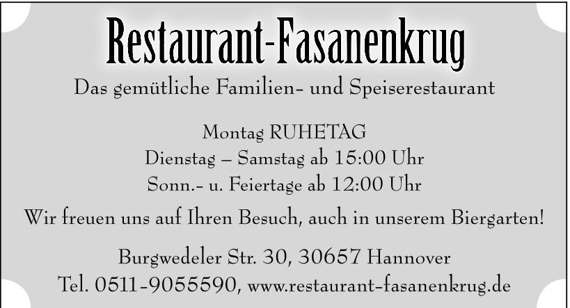Restaurant Fasanenkrug