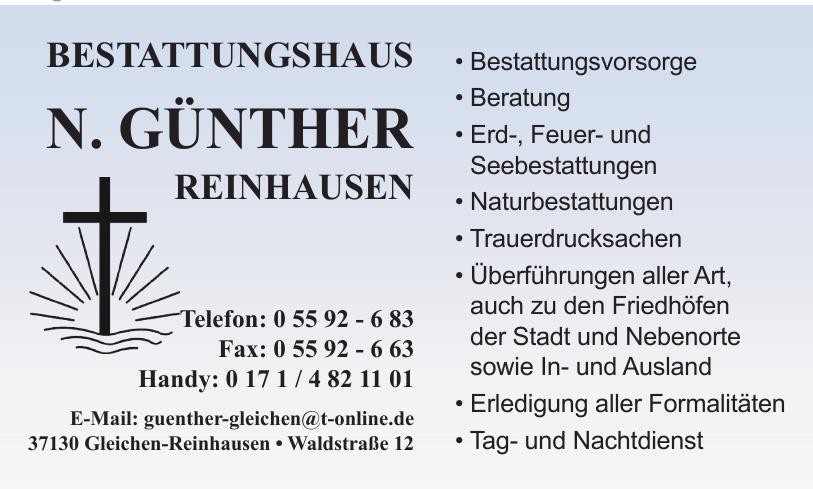 Bestattungshaus N. Günther Reinhausen