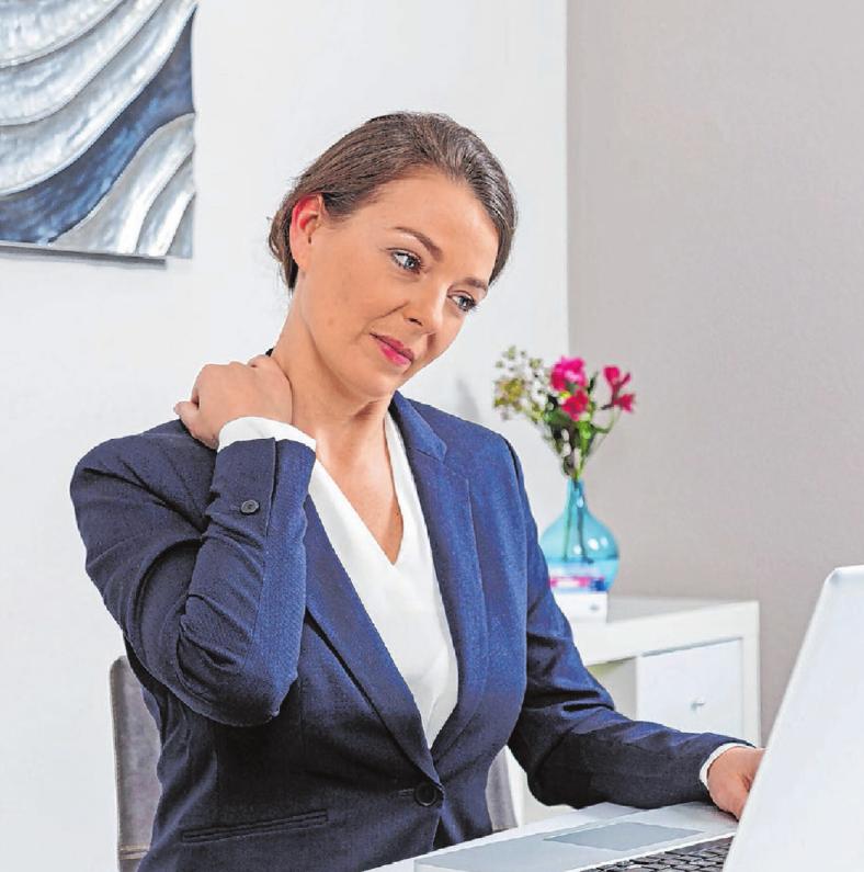 Ein guter Bürostuhl ist wichtig, auch, um Rücken- und Nackenschmerzen vorzubeugen. Foto: djd