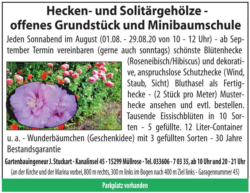 Gartenbauingeneur J. Stuckart