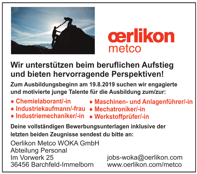 Oerlikon Metco WOKA GmbH