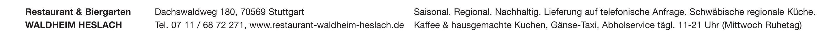 Restaurant & Biergarten WALDHEIM HESLACH