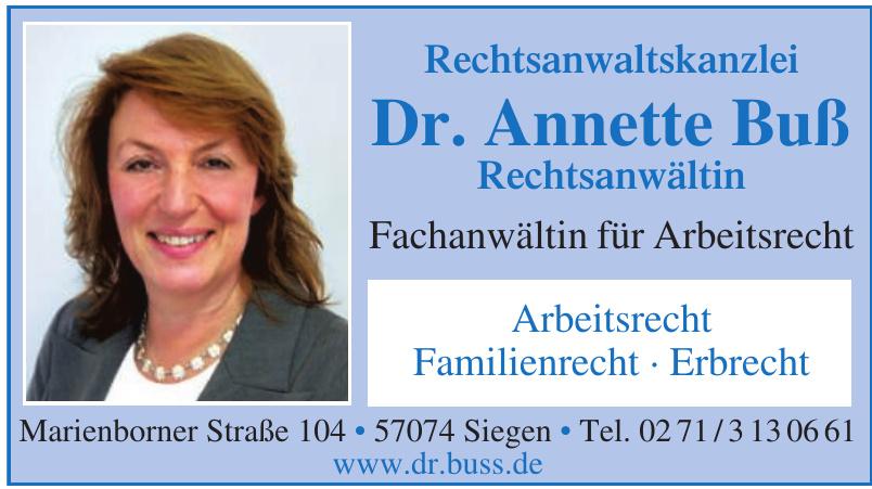 Rechtsanwaltskanzlei Dr. Annette Buß