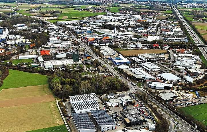 Das Gewerbegebiet Manchinger Straße hat eine enorme Entwicklung erlebt. Foto: Schalles