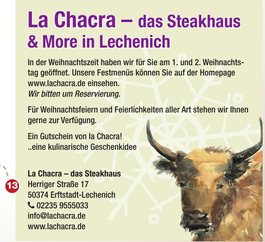 La Chacra – das Steakhaus
