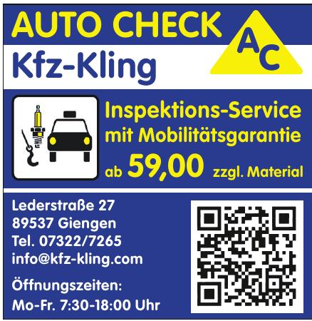 Meisterbetrieb Ingo Kling AC-Autocheck