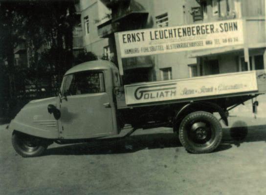 Drei- und vierrädrige Nutzfahrzeuge wie der Goliath wurden in der Werkstatt in der Preetzer Straße aufbereitet