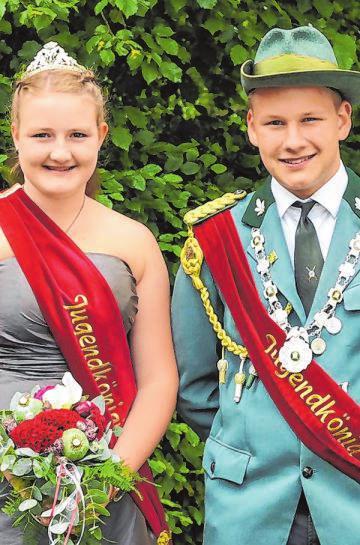 Maximilian Kiersch und Madleen Fuchs sind das noch amtierende Jugendschützenkönigspaar. Foto: Archiv