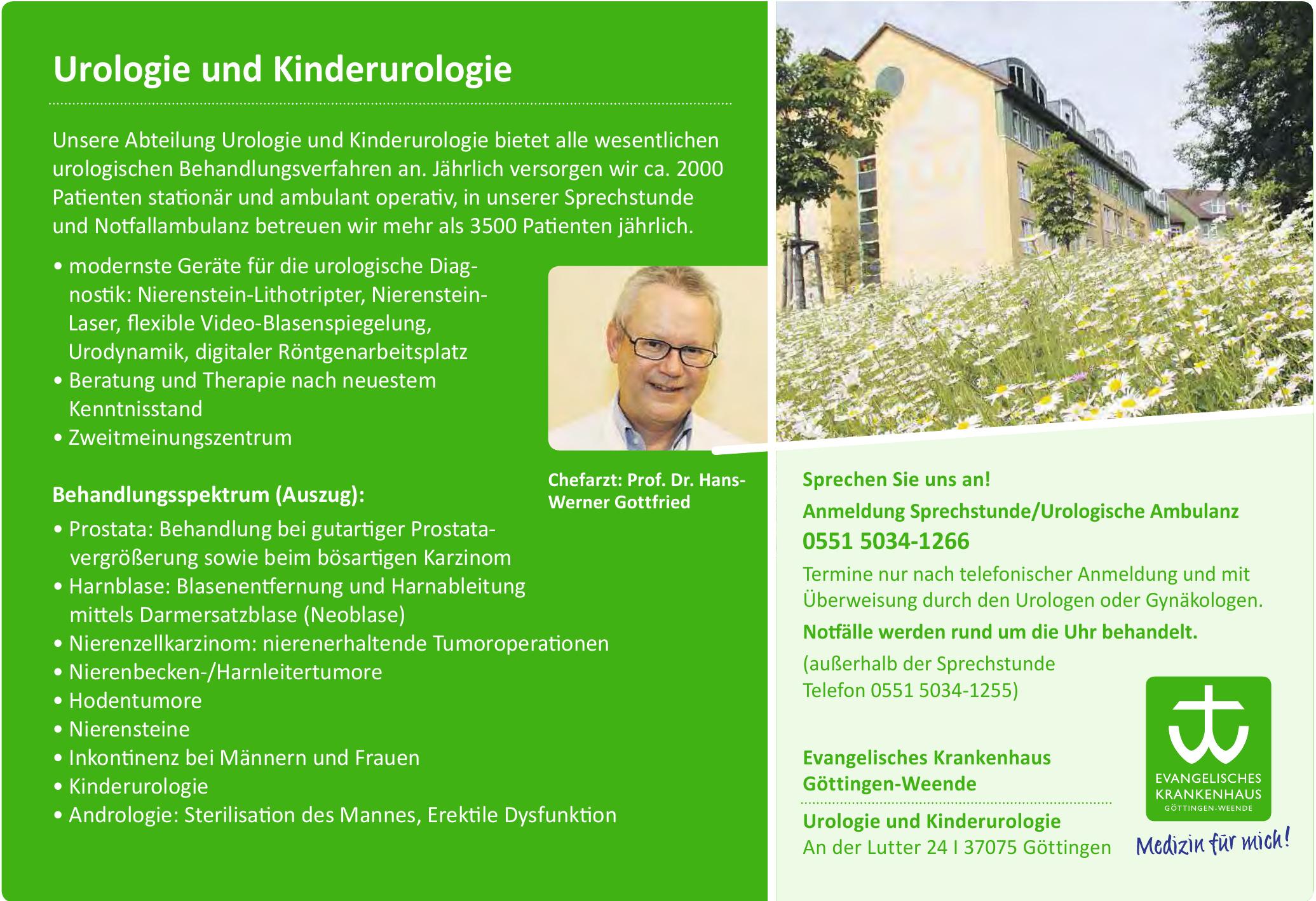 Evangelisches Krankenhaus Göttingen-Weende - Dr. Bernhard Schupfner