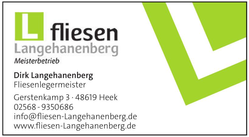 Fliesen Langehanenberg