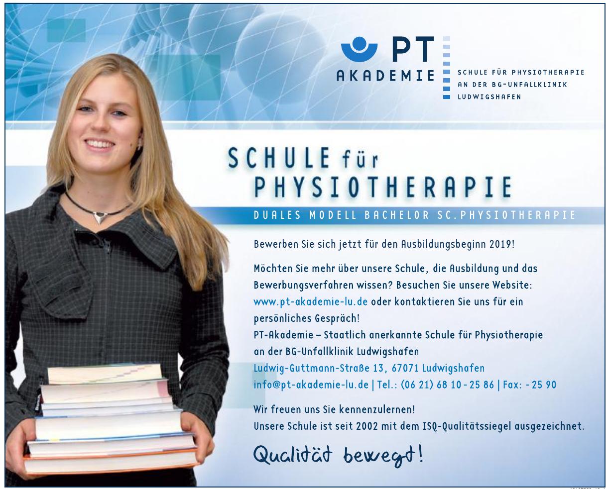PT-Akademie – Staatlich anerkannte Schule für Physiotherapie an der BG-Unfallklinik Ludwigshafen