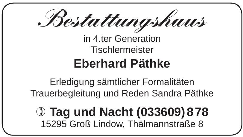 Bestattungshaus Eberhard Päthke