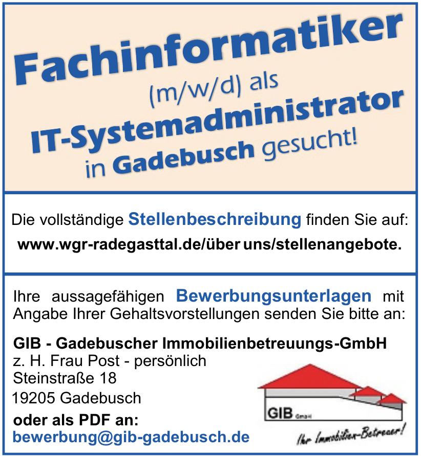 GIB - Gadebuscher Immobilienbetreuungs-GmbH