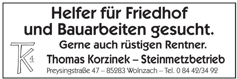 Thomas Korzinek – Steinmetzbetrieb