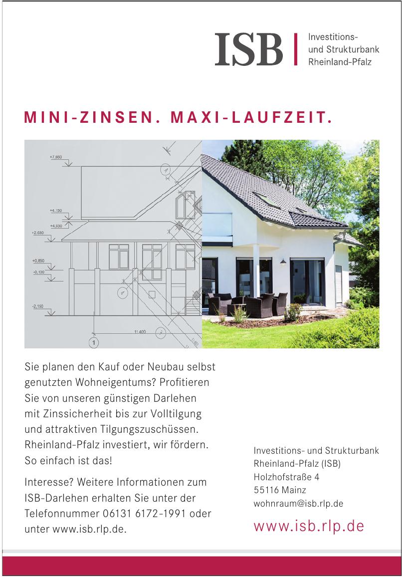 Investitions- und Strukturbank Rheinland-Pfalz (ISB)