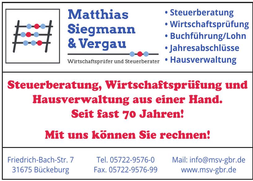 Matthias, Siegmann & Vergau Wirtschaftsprüfer und Steuerberater