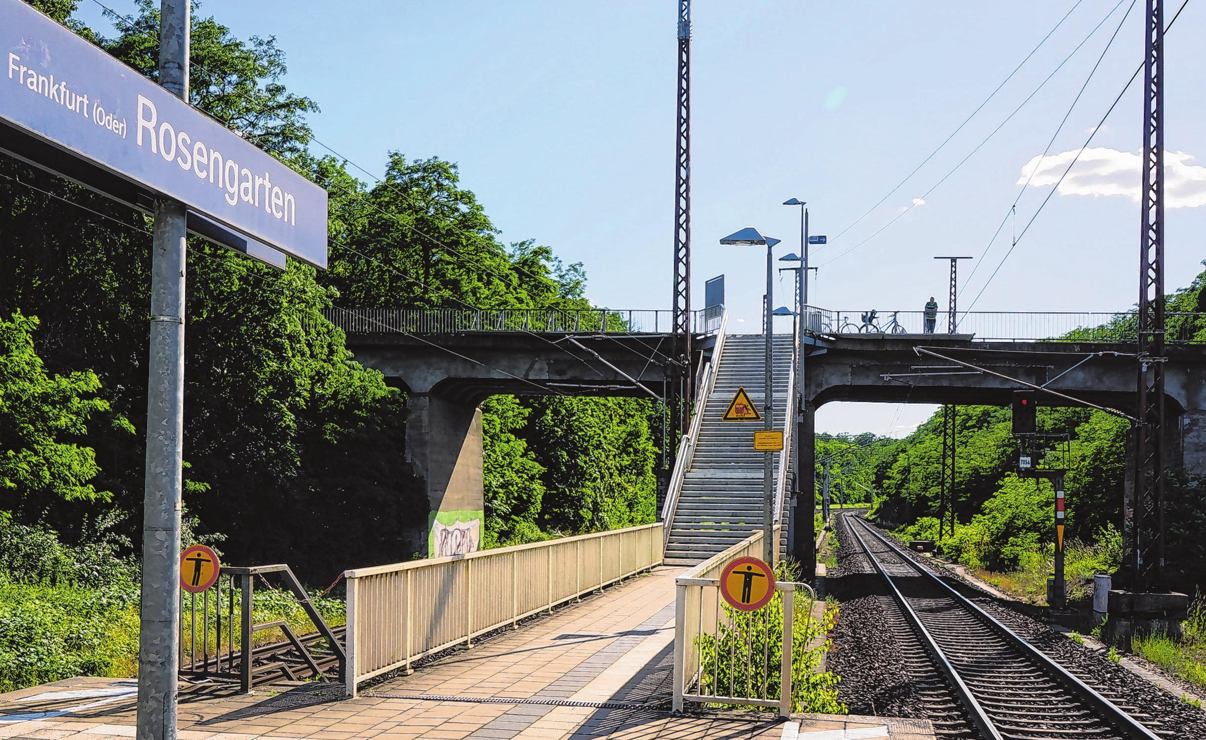 Ende kommenden Jahres beginnen die Bauarbeiten an der Brücke und am Bahnhof. Der Bahnsteig wird durch einen Aufzug barrierefrei erreichbar.