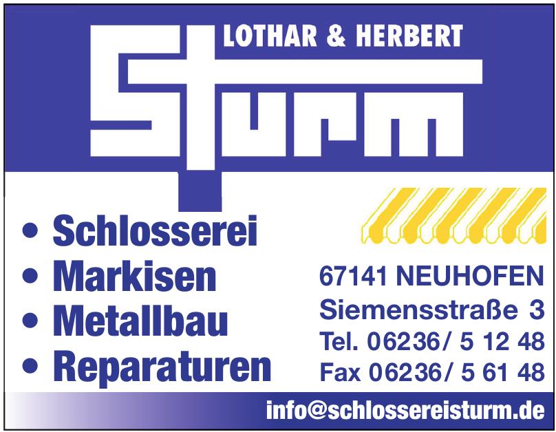 Lothar und Herbert Sturm