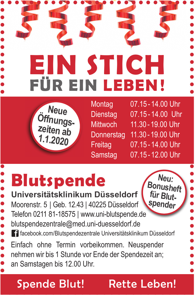 Blutspende Universitätsklinikum Düsseldorf