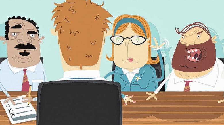 Wer solchen Gestalten gegenübersitzt, kann schon mal die Nerven verlieren. Doch die meisten Personaler wollen dem Bewerber nichts Böses und sehen ihm kleine Schwächen nach. Foto: Getty Images