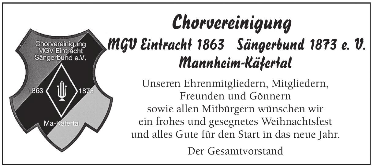 Chorvereinigung MGV Eintracht Sängerbund e.V.