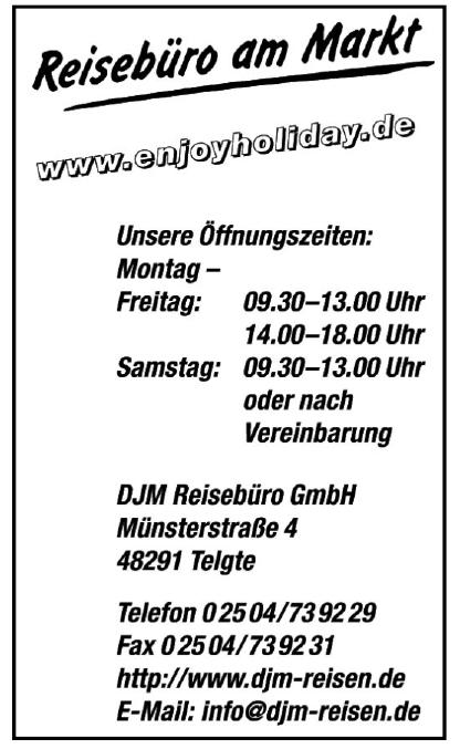Reisebüro am Markt GmbH - DJM Reisebüro GmbH