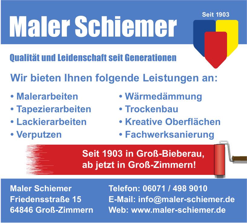 Maler Schiemer