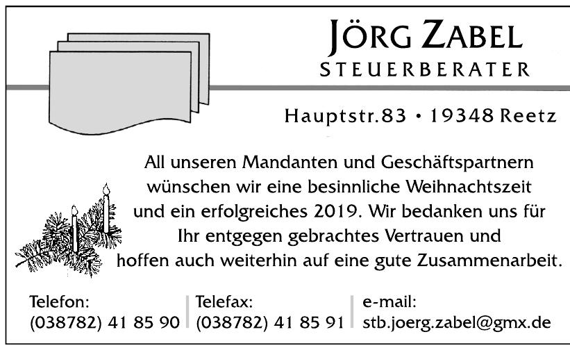 Jörg Zabel Steuerberater