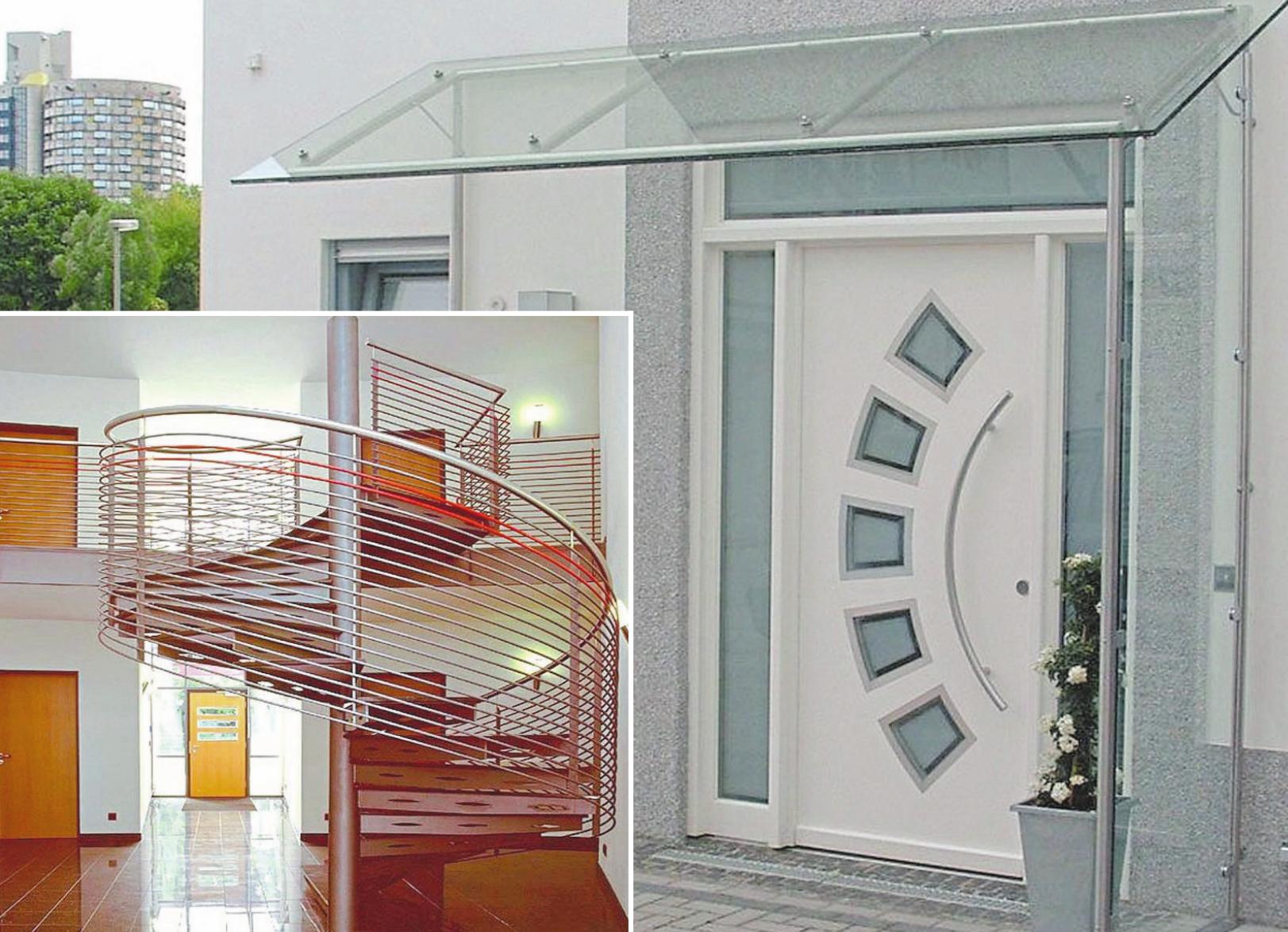 Ob Treppenanlagen (kl. Foto) oder Vordächer. Das Familienunternehmen Metallverarbeitung Marschalck GmbH & Co. KG an der Junkersstraße 15 im Steinfurter Gewerbegebiet Sonnenschein verfügt im Stahlbau über eine mehr als 20 Jahre lange Erfahrung. Fotos: Metallverarbeitung Marschalck GmbH & Co. KG