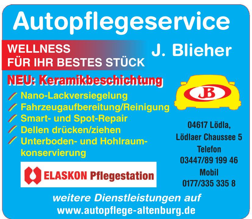 Autopflegeservice  J. Blieher