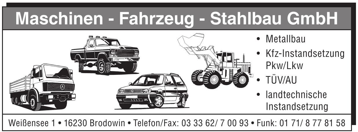 Maschinen, Fahrzeug, Stahlbau GmbH