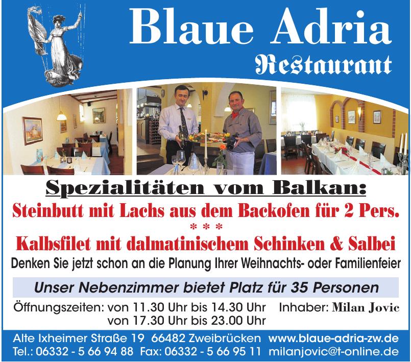 Blaue Adria Restaurant