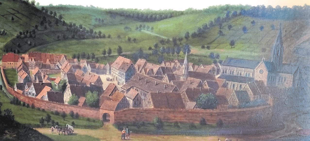 Auswallonischer Zeit: Otterberg um 1600, kopiert nach einem Maler der Frankenthaler Schule. Foto: hap