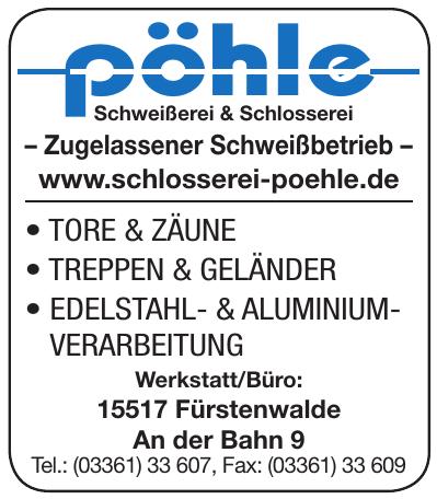 Schweißerei - Schlosserei T. Pöhle & A. Fischer GbR