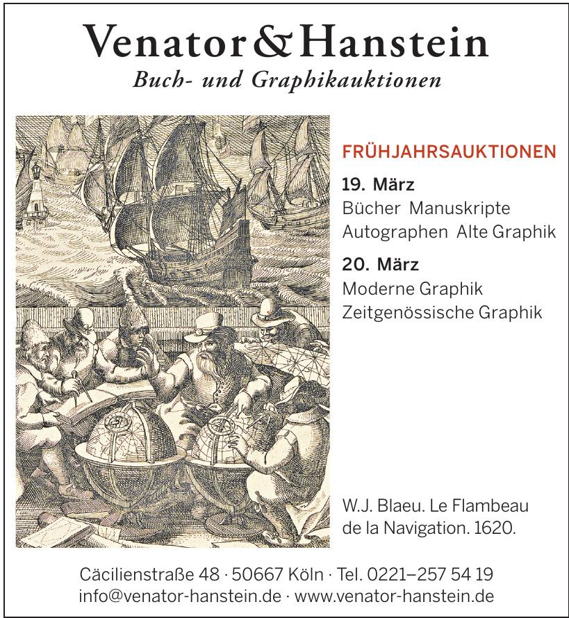 Venator & Hanstein Buch- und Graphikauktionen