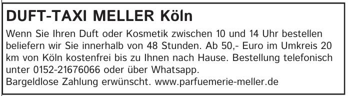 Duft-Taxi Meller Köln
