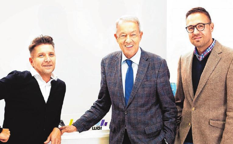 Die Geschäftsführer Marc und Wilhelm Widmann sowie Andreas Konradi (von rechts) blicken auf erfolgreiche Jahre zurück. Fotos: privat