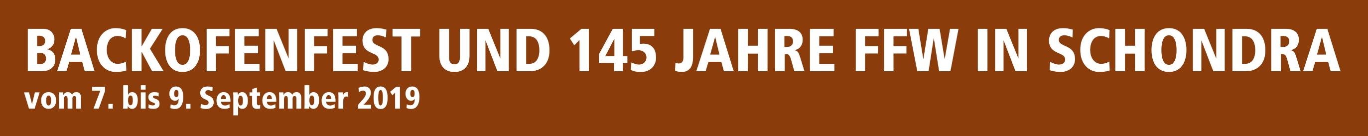 Backofenfest und 145 Jahre FFW in Schondra Image 1